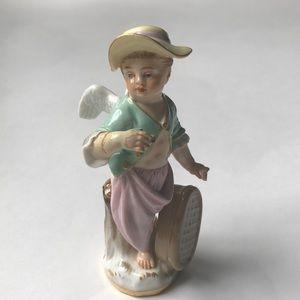 Meissen Cherub Shepherd Boy Figurine